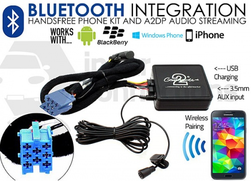 Fiat Bluetooth adapter for streaming and hands free calls Punto Multipla Doblo Sedici CTAFABT001