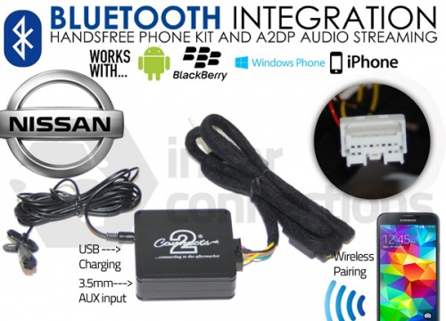 Nissan Bluetooth adapter for streaming and hands free calls CTANSBT001