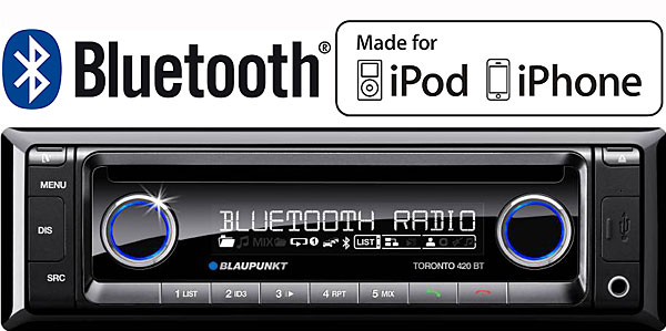 blaupunkt toronto 420bt in car radio ipod and bluetooth. Black Bedroom Furniture Sets. Home Design Ideas