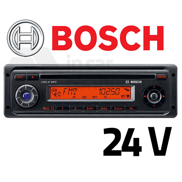 bosch crd 47 mp3 24v radio for coach bus lorry in car connections. Black Bedroom Furniture Sets. Home Design Ideas