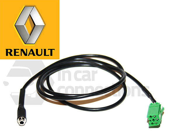 pc7 ren j renault aux cable with female jack for clio espace kangoo laguna megane scenic. Black Bedroom Furniture Sets. Home Design Ideas