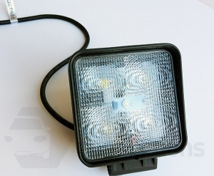 15W Square 5 LED worklamp spotlight 12v 24v for offroad tractor truck van etc