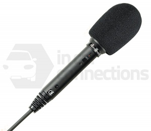 Handheld courier microphone for bus coach minibus etc
