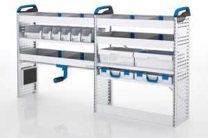 Sortimo Xpress TCLOS2 Racking for Ford Transit Custom, Long Wheel Base - Driver Side Option 2