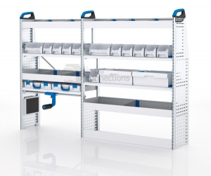 Sortimo Xpress VCSOS2 Van Racking for VW Volkswagen Crafter, Short Wheel Base - Driver Side Option 2