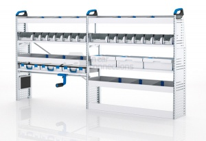 Sortimo Xpress VCMOS2 Van Racking for VW Volkswagen Crafter, Medium Wheel Base - Driver Side Option 2