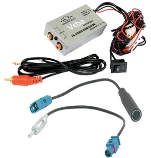 Veba Wired FM Modulator AVFM-MOD01 with FAKRA aerial adapters