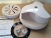 Rotary roof vent for van bus caravans - wind driven - White