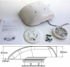 Small Low profile motorised van ventilator for van taxi caravan - White
