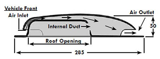 Van Roof Vent Plastic Duct Type Low Profile Van