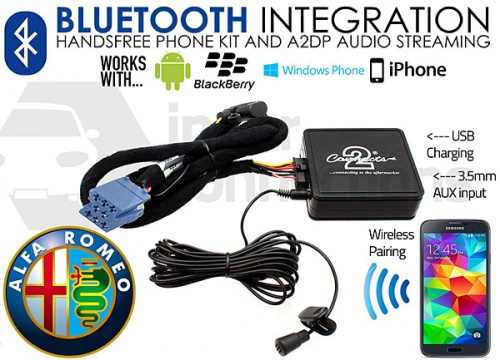CTAARBT001 Alfa Romeo Bluetooth adapter for streaming and hands free calls 147 156 GT
