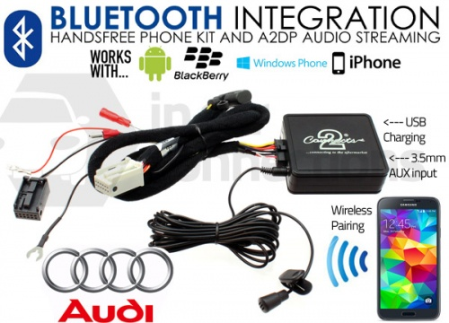 CTAADBT004 Audi Bluetooth adapter for streaming and hands free calls 2006 onwards