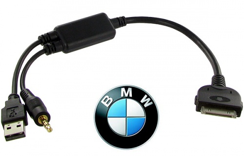 BMW iPod cable for iDrive via USB and 3.5mm jack CT29IP10