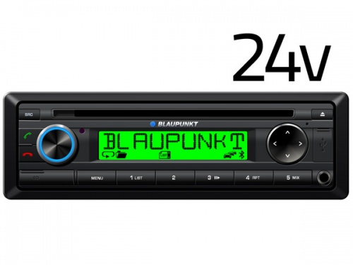 Blaupunkt Detroit 2024 24v radio with Bluetooth CD player USB MP3 AUX input for bus, lorry