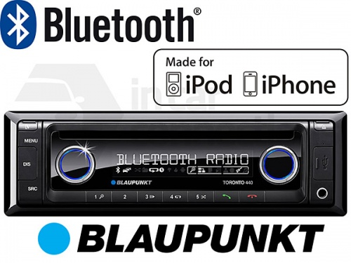 Blaupunkt Toronto 440BT in car radio iPod and Bluetooth ready with CD player USB MP3 and AUX input