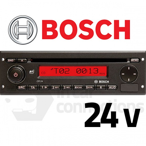 Bosch Coach Radio CR24 24v stereo radio for coach and bus