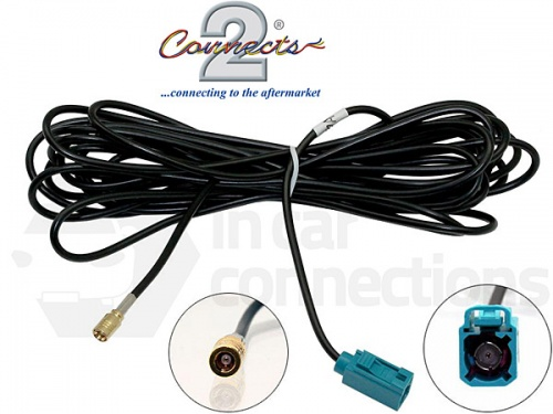 Female Fakra to Female SMB car radio stereo aerial antenna cable 5m extension lead CT27AA155