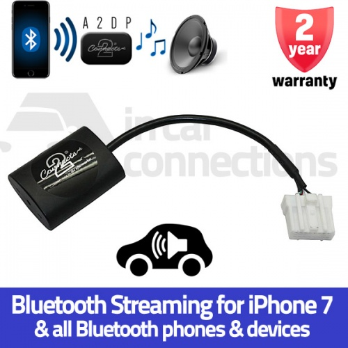 Mazda Bluetooth streaming adapter for Mazda 2, 3, 5, 6, MX-5 and RX-8 2006 on with AUX CTAMZ1A2DP