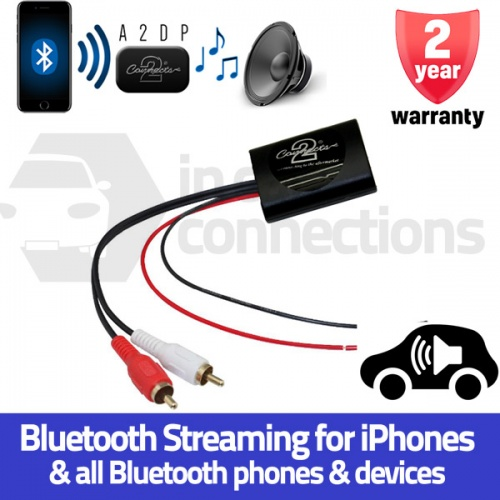 Universal Bluetooth music streaming adapter A2DP interface for AUX input CTUNIA2DP