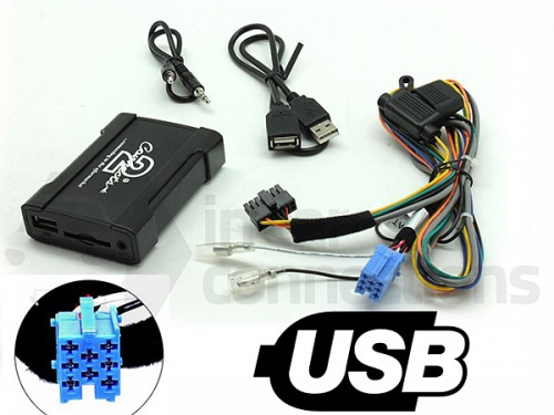 Fiat USB adapter CTAFAUSB001 for Fiat Punto Multipla Doblo and Sedici