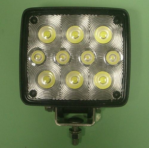 LED Work lamp with 10 bright LED 122 x 110 x 45 mm 12/24 V