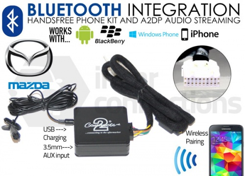 Mazda Bluetooth adapter for streaming and hands free calls CTAMZBT001 pre 2009