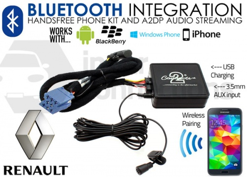 Renault Bluetooth adapter for streaming and hands free calls CTARNBT003