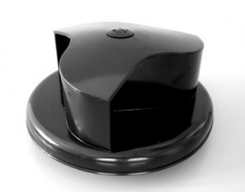Rotary roof vent for van bus caravans - wind driven - Black