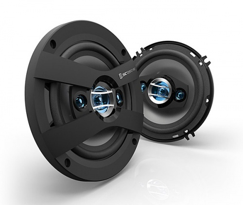 Scosche HD6504 6.5'' inch 16.5cm 165mm in car speakers 4 way triaxial 200W