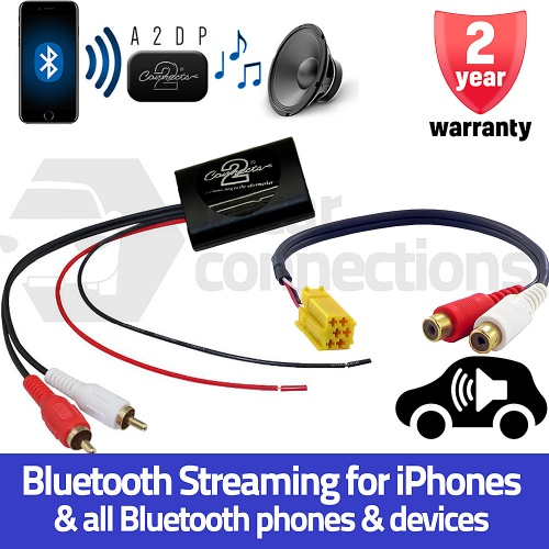 Smart ForTwo Bluetooth A2DP Music Streaming Interface Adapter