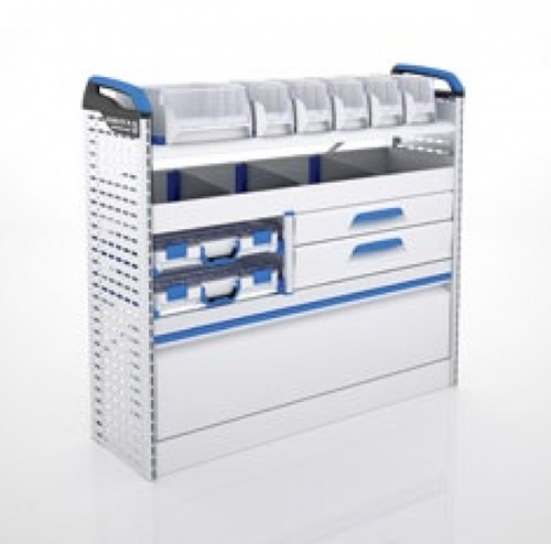 Sortimo Xpress TCLNS3 Racking for Ford Transit Custom, Long Wheel Base - Passenger Side Option 3