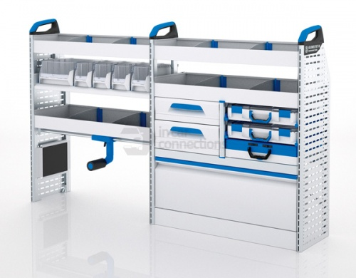 Sortimo Xpress TCSOS3 Racking for Ford Transit Custom, Short Wheel Base - Driver Side Option 3