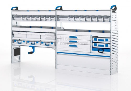 Sortimo Xpress VCMOS3 Van Racking for VW Volkswagen Crafter, Medium Wheel Base - Driver Side Option 3
