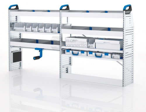 Sortimo Xpress TPLOS2 Van Racking for VW Volkswagen Transporter T5, Long Wheel Base - Driver Side Option 2