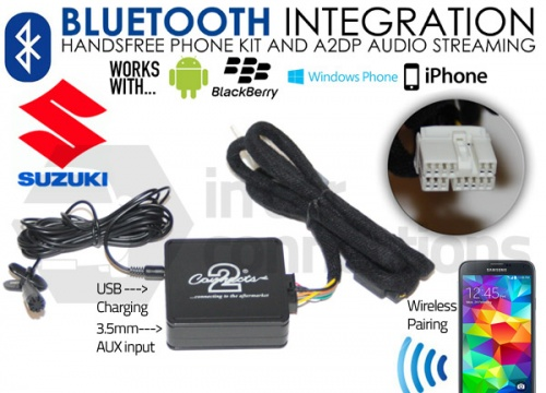 Suzuki Bluetooth adapter for streaming and hands free calls CTASZBT001