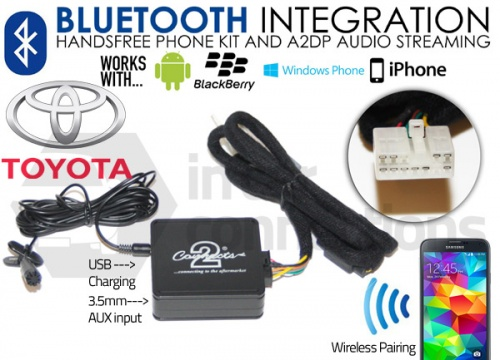 Toyota Bluetooth adapter for streaming and hands free calls CTATYBT001 pre 2004