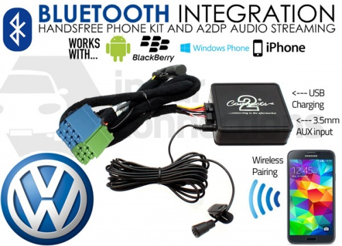 VW Bluetooth adapter for streaming and hands free calls CTAVGBT003 mini-ISO