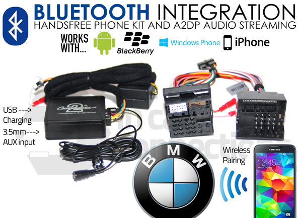 Bmw Bluetooth Adapter For Streaming And Hands Free Calls Ctabmbt009 Quadlock In Car Connections