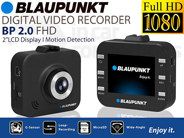 in car dash camera blaupunkt bp 2 0 fhd dash cam car digital video