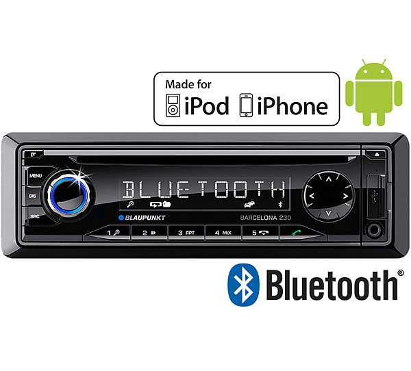 blaupunkt barcelona 230 in car radio cd player with usb mp3 aux input and ipod iphone and. Black Bedroom Furniture Sets. Home Design Ideas