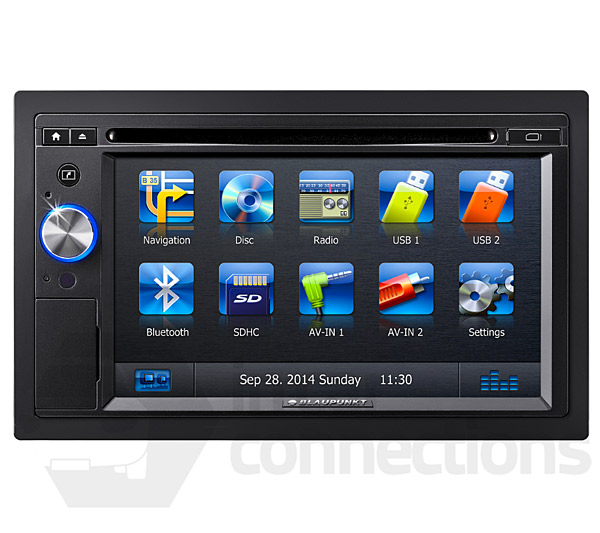blaupunkt new york 845 double din in car navigation and. Black Bedroom Furniture Sets. Home Design Ideas