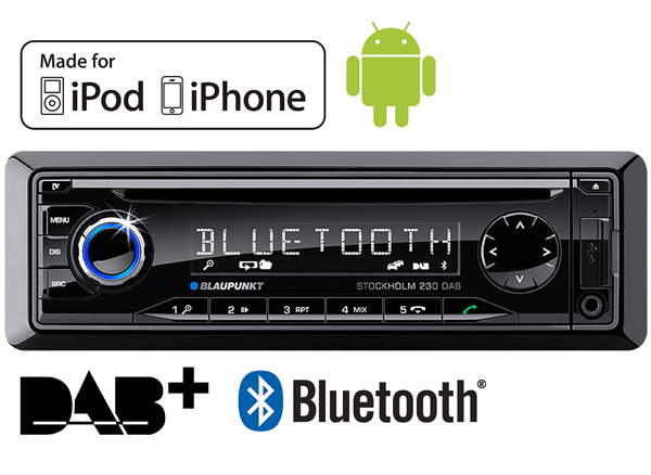 blaupunkt stockholm 230 dab in car radio bluetooth ready. Black Bedroom Furniture Sets. Home Design Ideas
