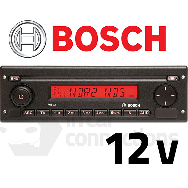 bosch coach radio mr 12 radio for minibuses features aux. Black Bedroom Furniture Sets. Home Design Ideas