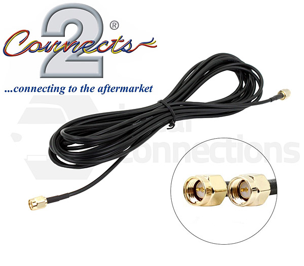 Dab Radio Aerial Extension Cable 5m Sma Male To Sma Male