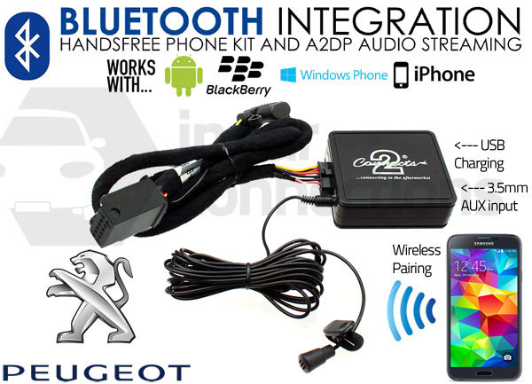 peugeot bluetooth adapter for streaming and hands free. Black Bedroom Furniture Sets. Home Design Ideas