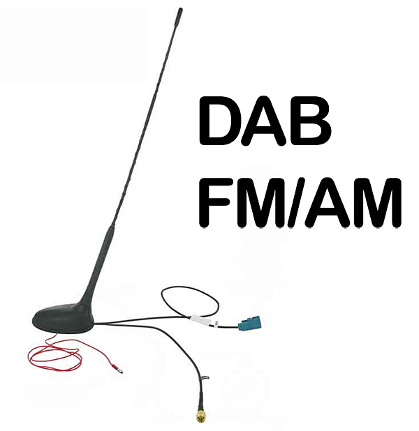 In Car Roof Mount Dab Am Fm Aerial Antenna Ct27uv57