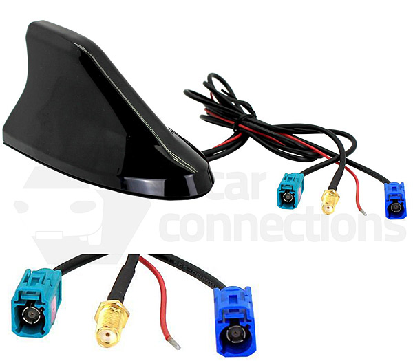 shark fin in car roof mount dab am fm and gps aerial. Black Bedroom Furniture Sets. Home Design Ideas