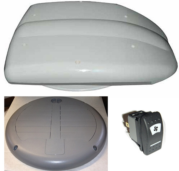 Low Profile Motorised Van Roof Vent For Buses And