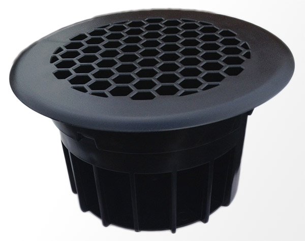 Circular Van Floor Vent Polycarbonate Abs Ideal For