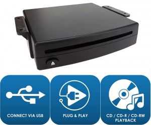 Retrofit Add on car CD player via USB for vehicles without a CD Mech ADV-USBCD by Connects2 Adaptiv
